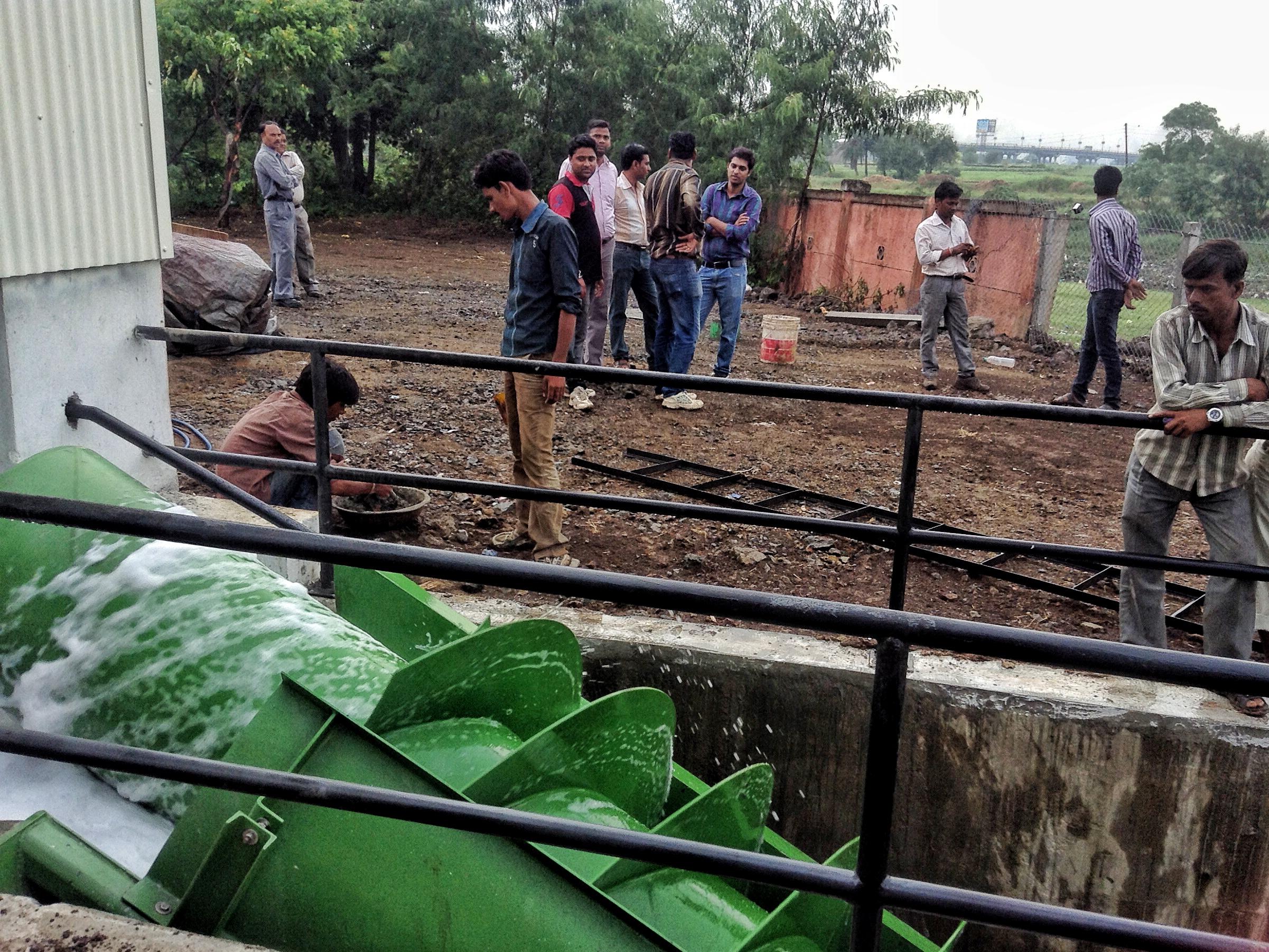Die erste Wasserkraftschnecke in Indien, Indore