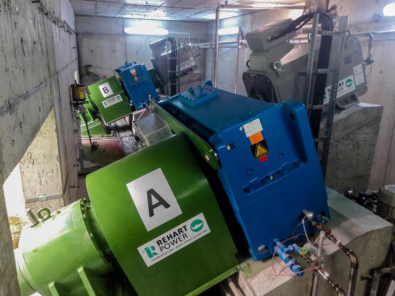 Betriebsraum mit den Generatoren
