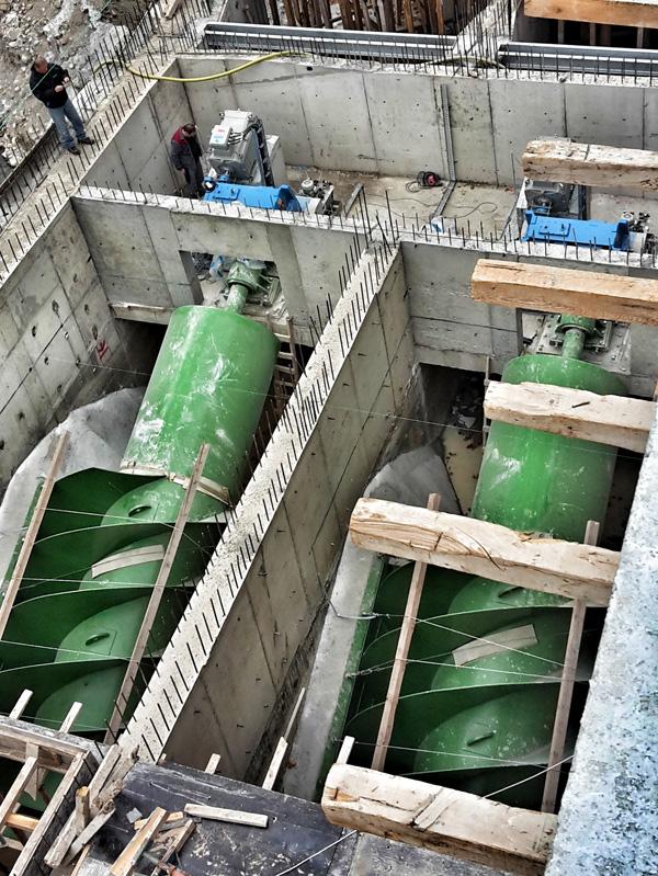 Installation Wasserkarftschnecken in Amasya