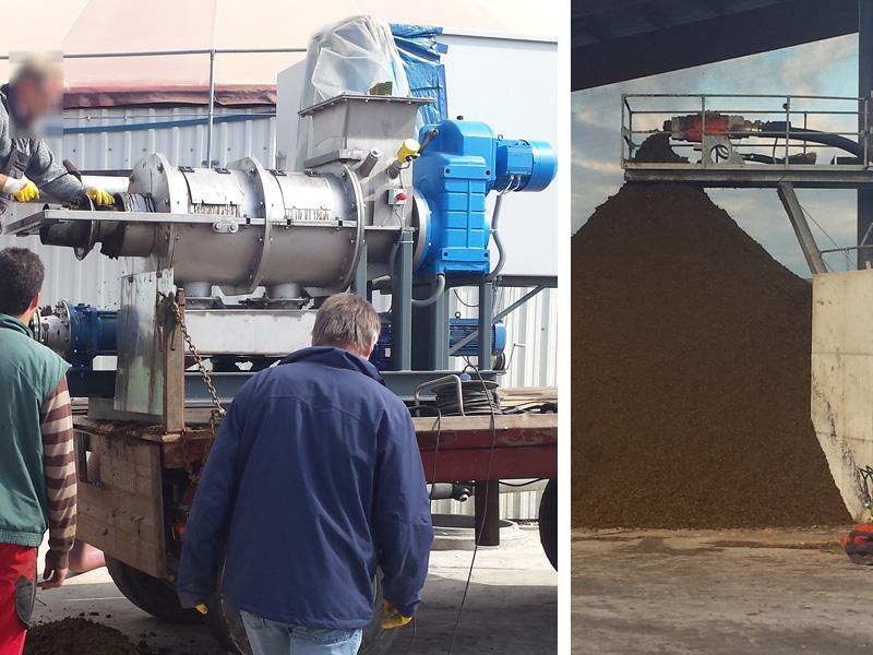 Feststoffextruder für Biogasanlagen